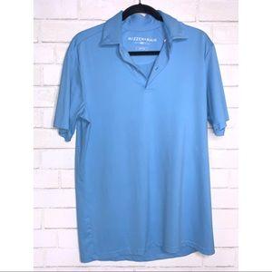 MIZZEN+MANE | Blue Mens Polo Shirt Medium M